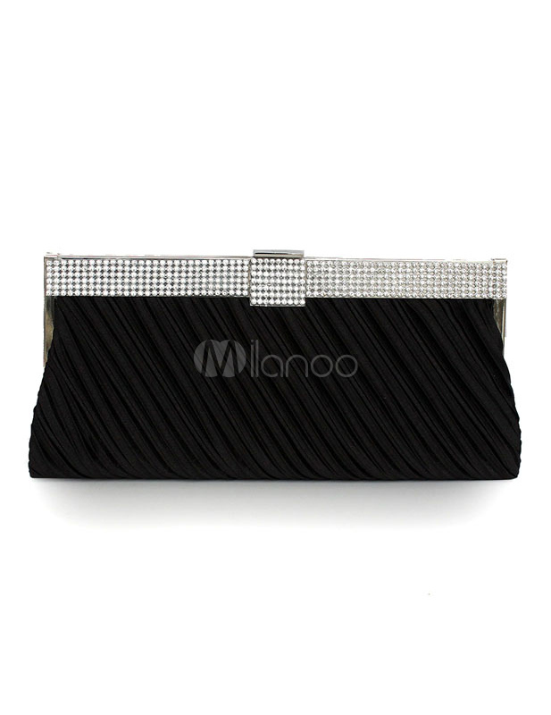 Pleated Striped Evening Bag