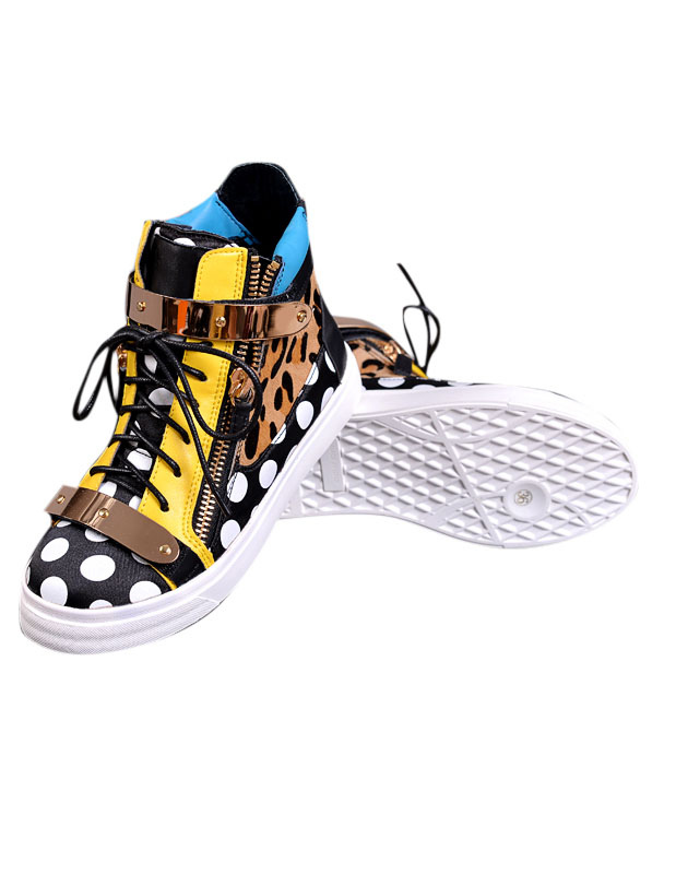 Colorful High-cut Sneakers With Leopard Pattern thumbnail