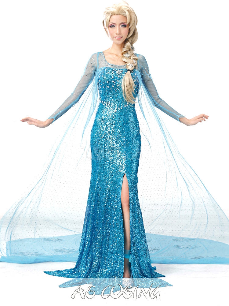 Costume de elsa bleu clair du film la reine des neiges - Elsa la reine ...