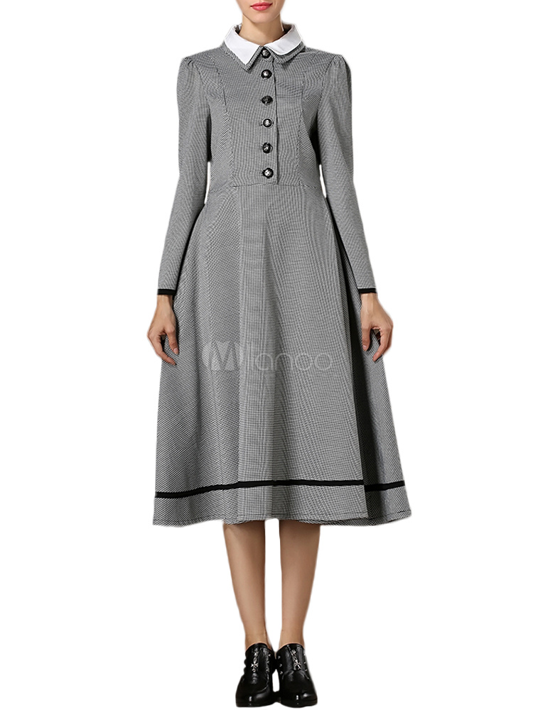 1930s dresses fashion Vintage Dress with Spread Neck