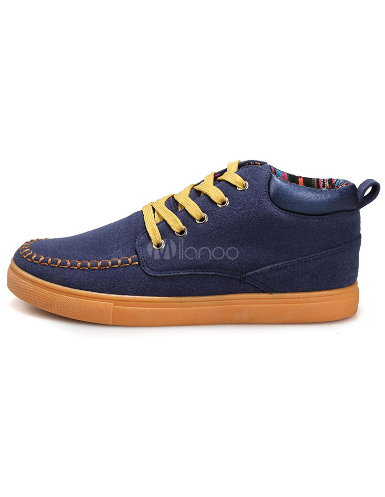 lace up micro suede leather shoes milanoo