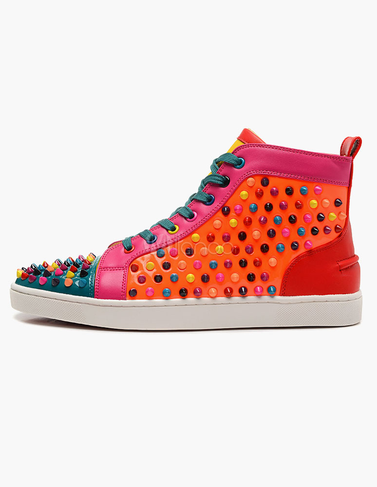 Color Block Studded Sneakers thumbnail