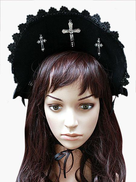 Black Lace Gothic Lolita Hat