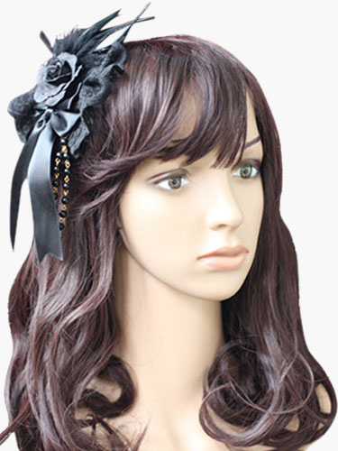 Gothic Lace Lolita Headdress $20.99 AT vintagedancer.com