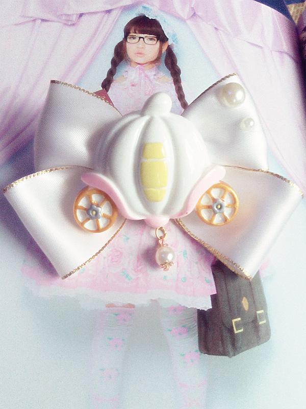 Cinderella's Pumpkin Carriage Brooch