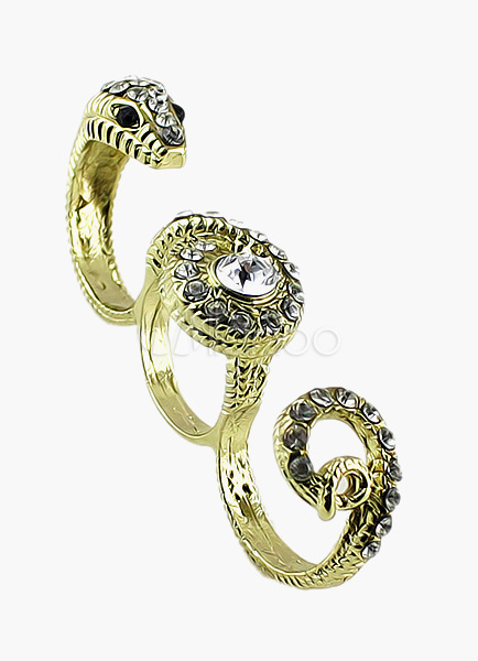 Vintage Snake Triple Finger Ring