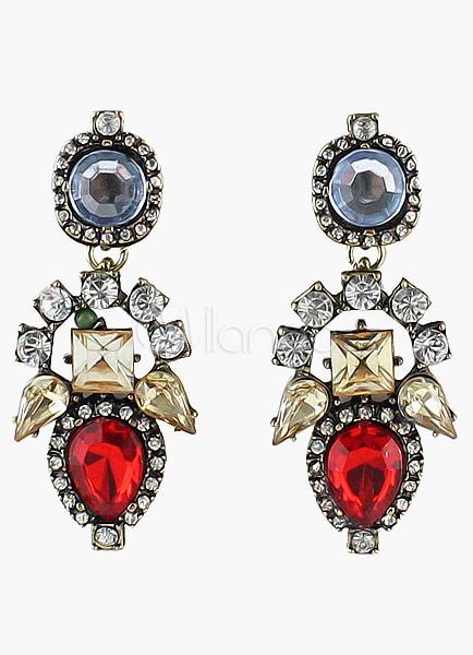 Colorful Zircon Rhinestone Dangle Earring