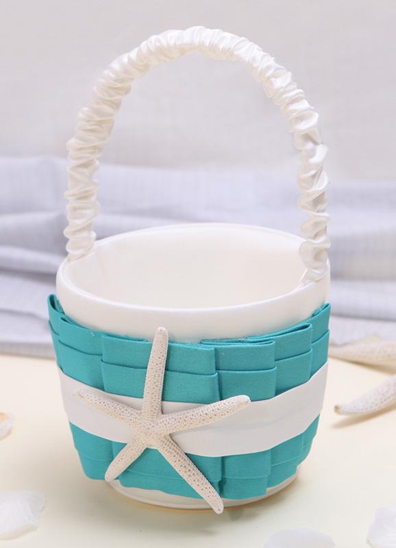 Starfish Beach Wedding Flower Girl Basket