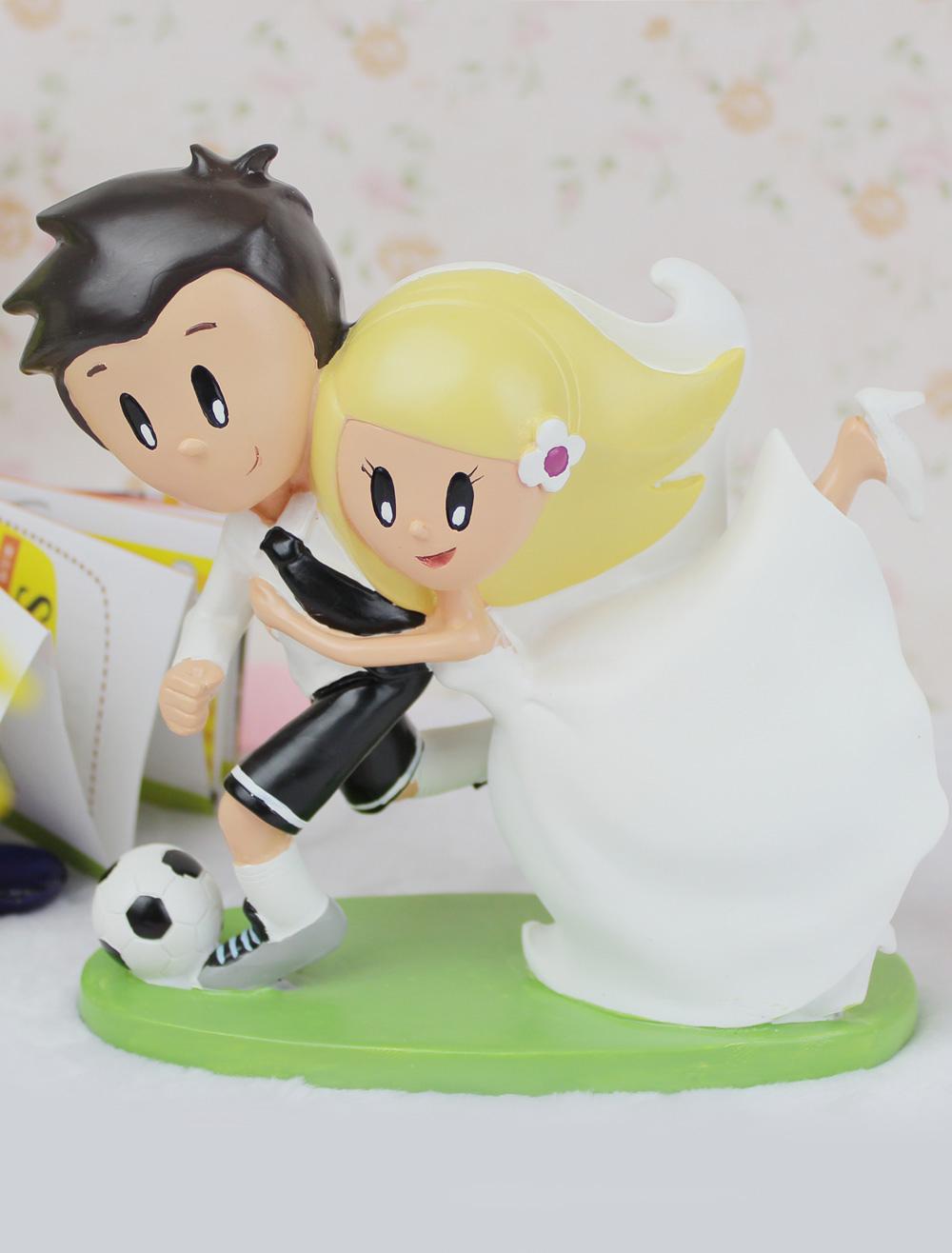 Soccer Theme Wedding Cake Topper