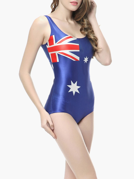 maillot de bain 1 pi ce en polyester imprim drapeau australien. Black Bedroom Furniture Sets. Home Design Ideas
