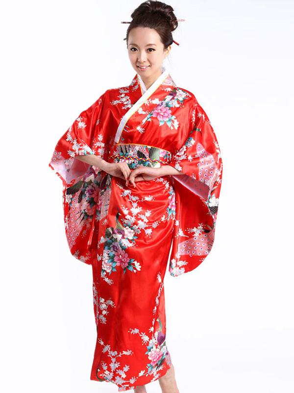 rote pfau damen kimono kost me. Black Bedroom Furniture Sets. Home Design Ideas
