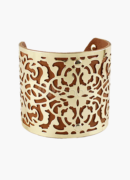 Vintage Pattern Hollow Out Cuff Bracelet