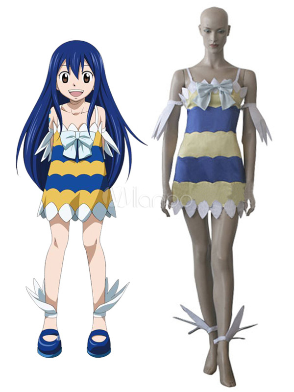 Fairy tail dragon slayers wendy marvell fille robe cosplay costume - Fille fairy tail ...