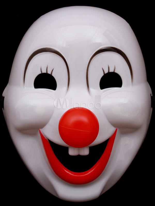 White Halloween Clown Mask