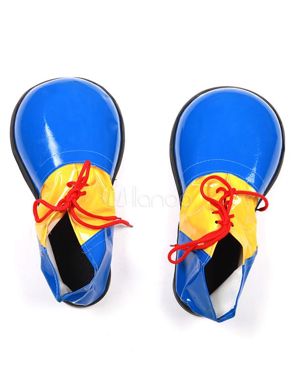 Blue Halloween Clown Shoes