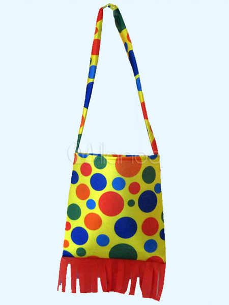 Yellow Polka Dot Halloween Clown Bag