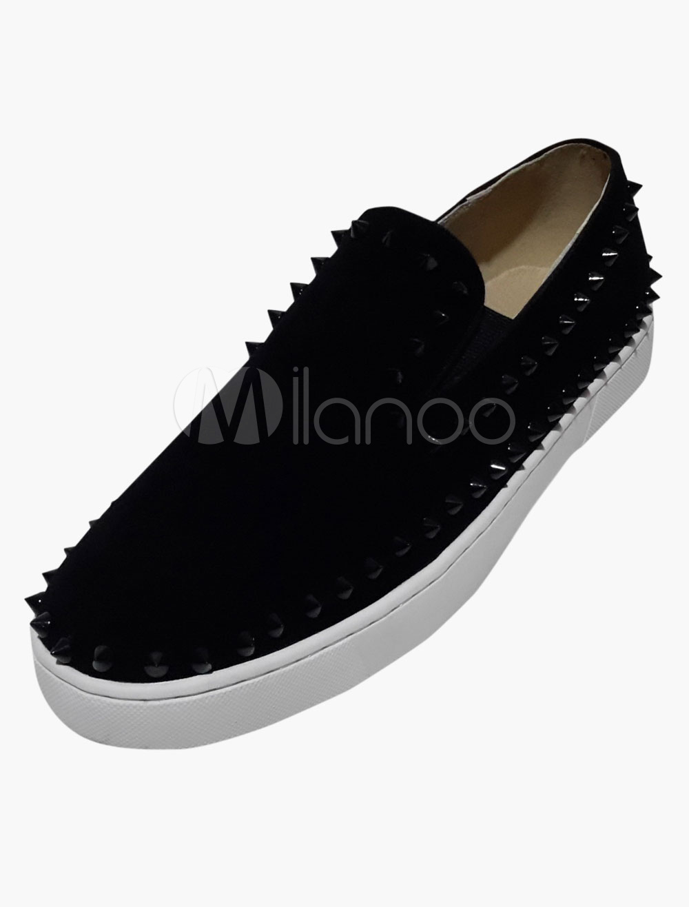 Cosy Monogram Suede Rivets Soft sole Mens Loafer Shoes photo