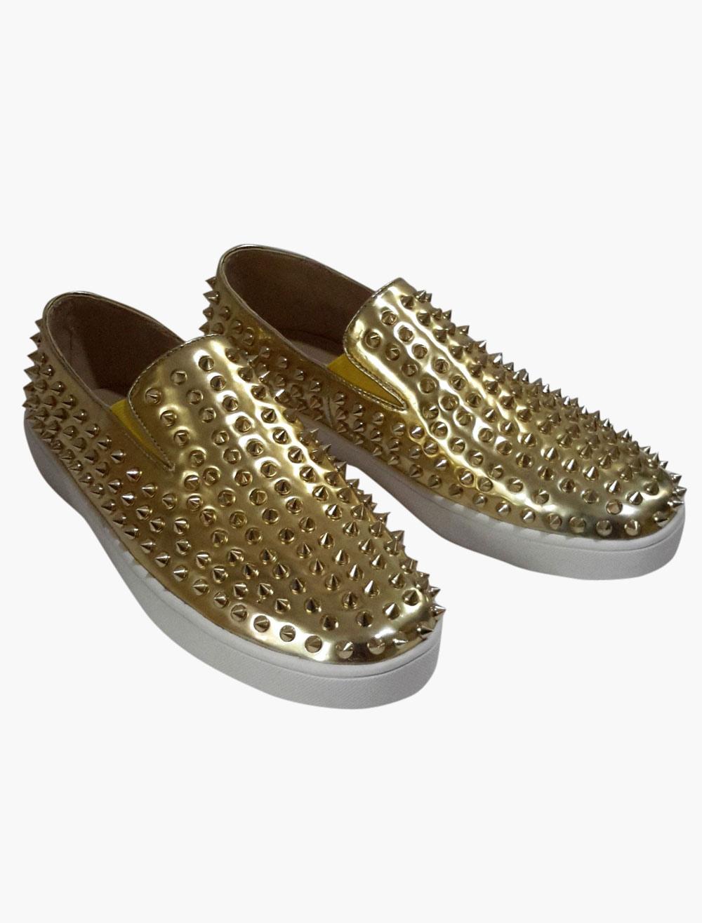 Monogram Suede Rivets Soft Sole Mens Loafer Shoes photo
