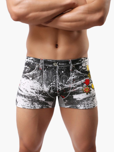 Sexy Cool Jeans Print Men's Trunks