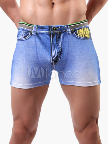 Great Jeans Printed Sexy Men's Trunks