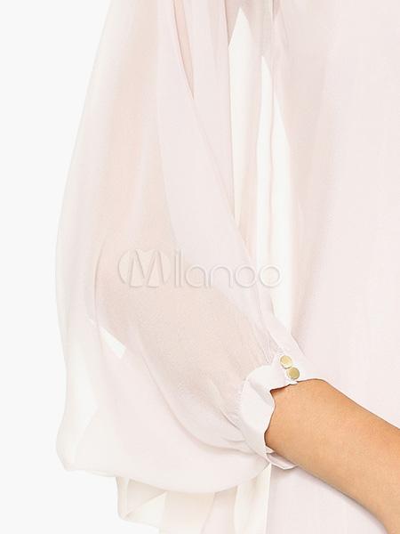 robe d 39 t blanche unicolore pliss e. Black Bedroom Furniture Sets. Home Design Ideas
