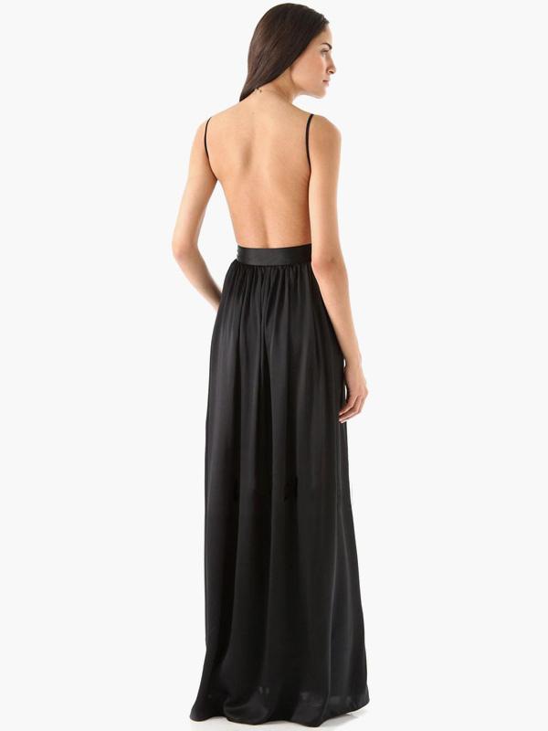 robe longue col v. Black Bedroom Furniture Sets. Home Design Ideas
