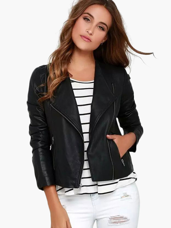 White leather jacket petite – Novelties of modern fashion photo blog