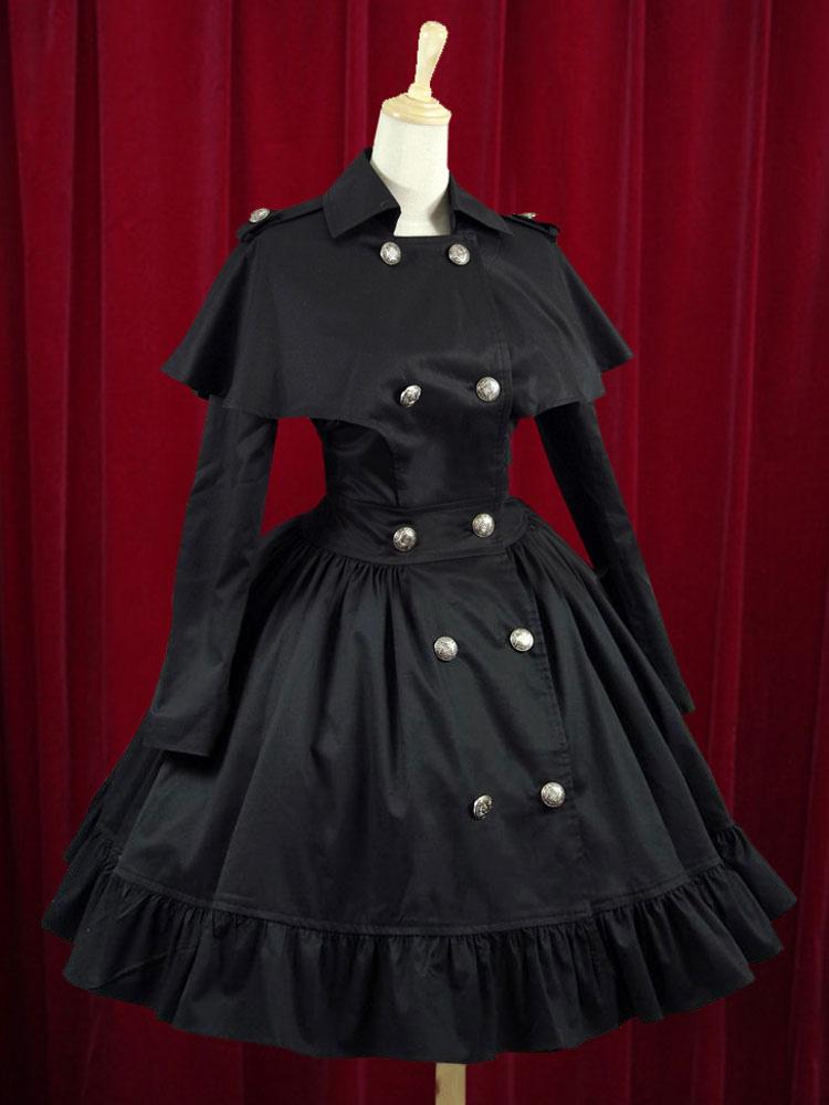 Wasp-waisted Elegant Cotton Buttons Lolita Dress