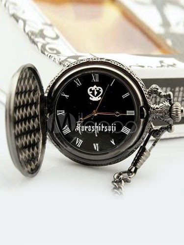 Black Butler Vintage Pocket Watch Halloween
