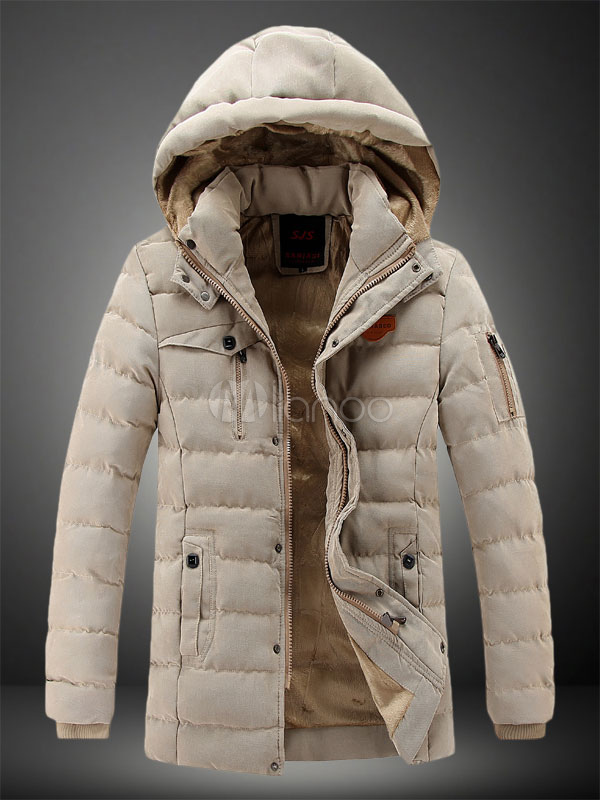 Men's Causal Cotton-padded Hooded Coat For Men thumbnail