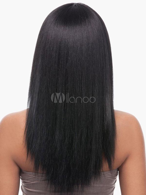 perruque de cheveux humains femme noir brun tre afro am ricaines d grad mode. Black Bedroom Furniture Sets. Home Design Ideas