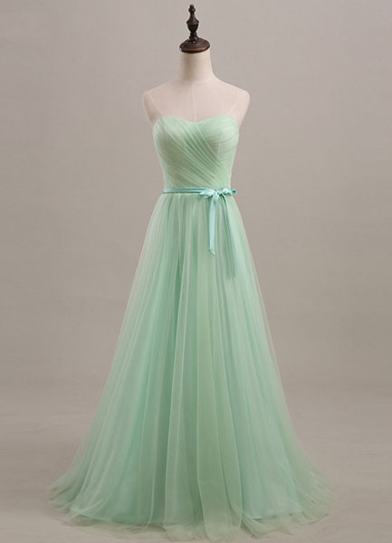 Green Sweetheart Tulle Bridesmaid Dress for Woman (Wedding Bridesmaid Dresses) photo