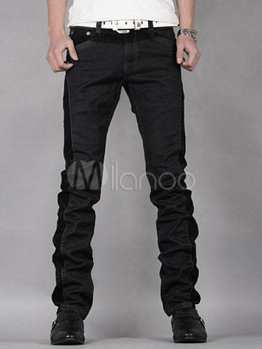 Black Shaping Cotton Skinny Jeans for Men