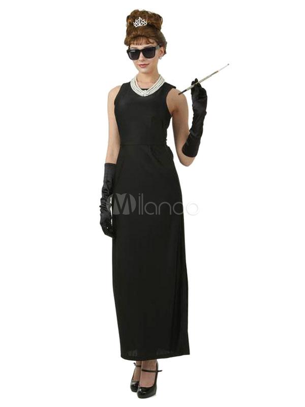Toussaint cosplay costume des ann es 50 noir audrey - Deguisement audrey hepburn ...