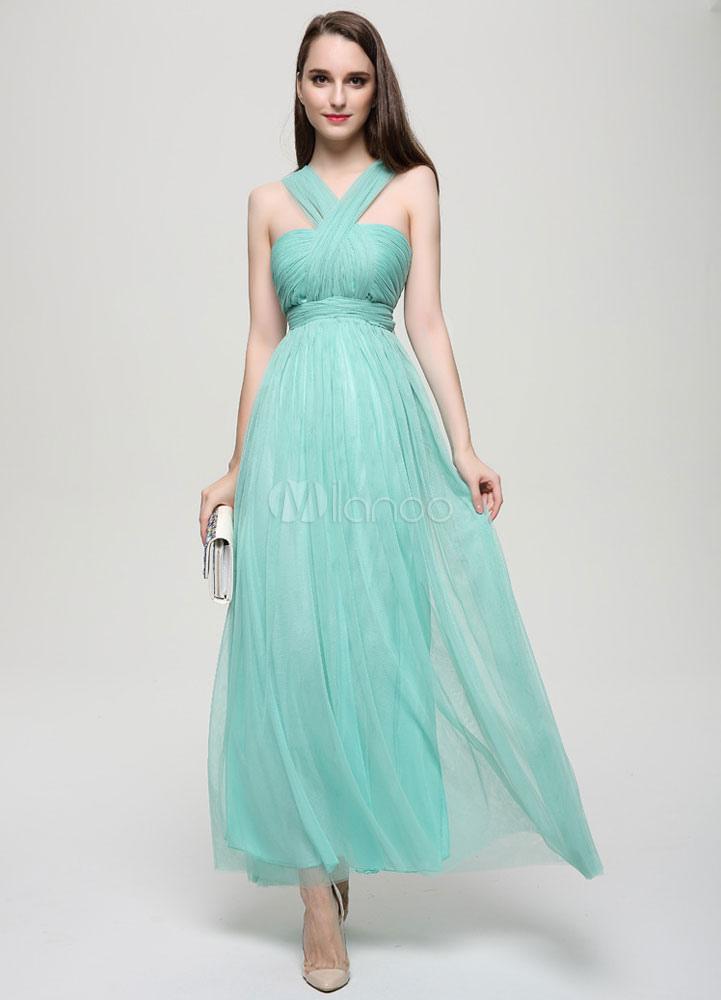 robe demoiselle d 39 honneur taille empire vert avec noeud licou. Black Bedroom Furniture Sets. Home Design Ideas