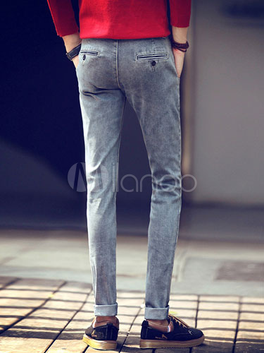graue fashion denim skinny jeans f r m nner. Black Bedroom Furniture Sets. Home Design Ideas