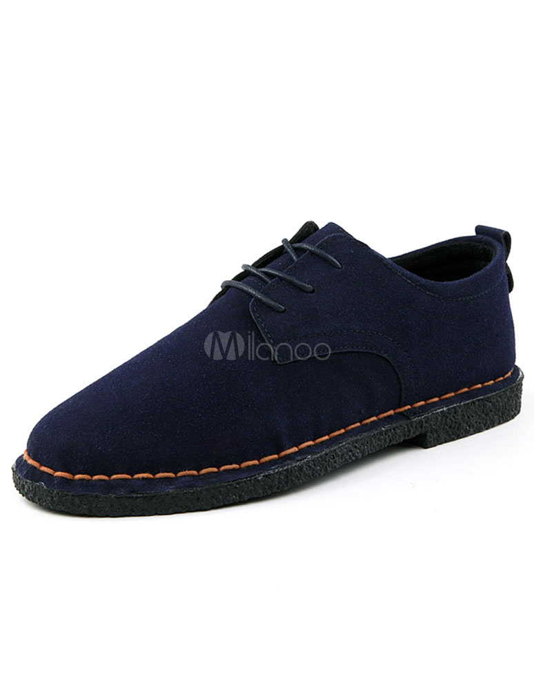 Blue Monogram Suede Casual Shoes for Men photo