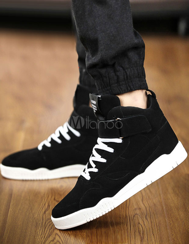 Quality Balck Monogram Suede Casual Shoes for Men photo