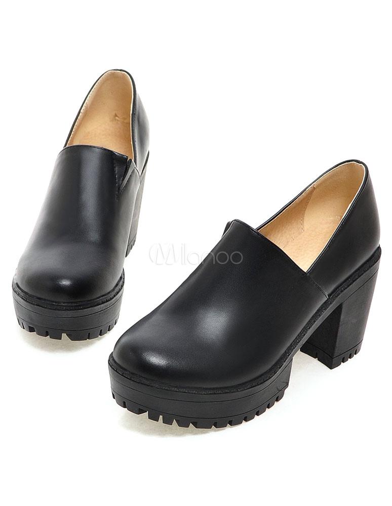 chaussures pratiques en pu fait main avec boucle. Black Bedroom Furniture Sets. Home Design Ideas