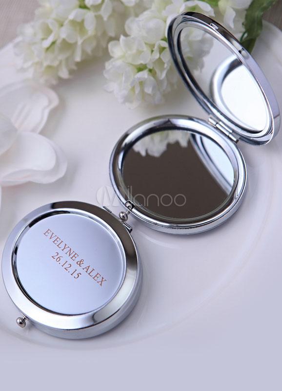 Silver Make up Mirror Wedding Favor