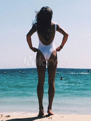 Latte bianco seta one piece costume da bagno per le donne - Donne grasse in costume da bagno ...
