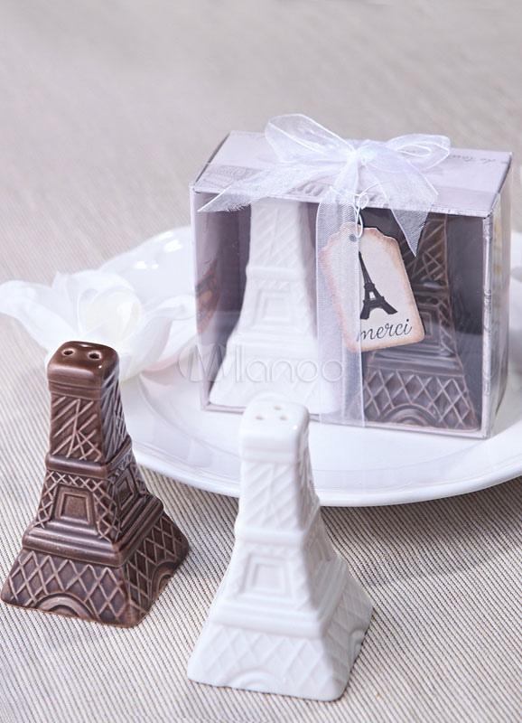 Vintage Eiffel Tower Pepperbox Wedding Favor