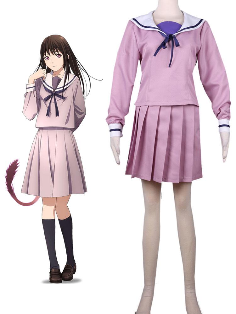 Noragami Iki Hiyori Cosplay Costume School Uniform Halloween