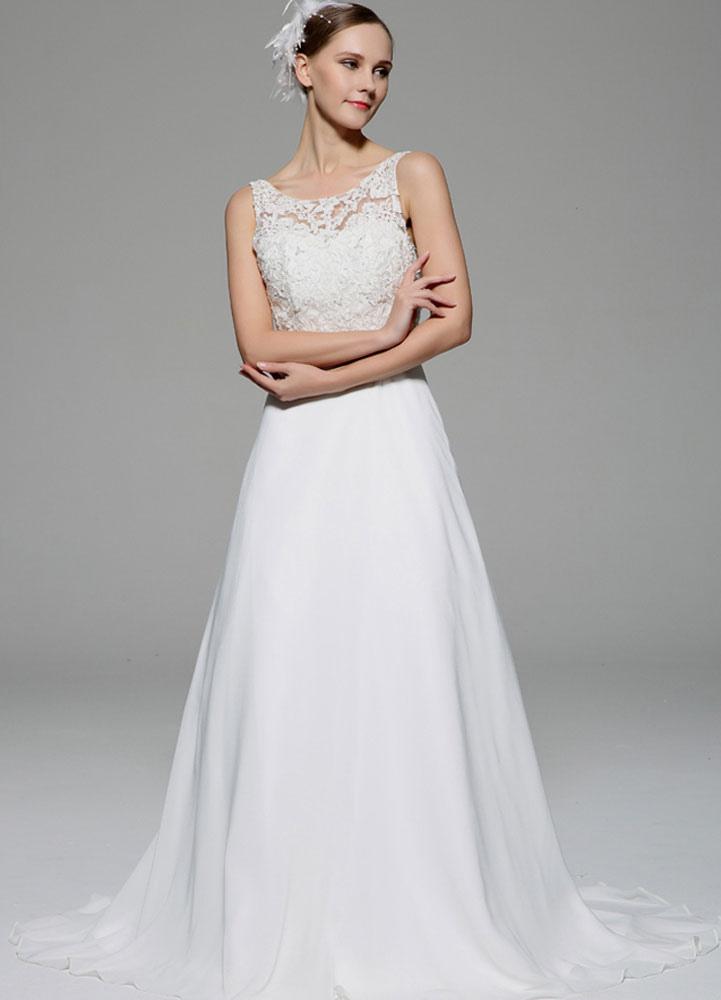 Robe de mariage ivoire illusion strass dentelle robe de for Meilleurs concepteurs de robe de mariage de plage