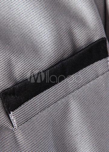 jungen anzug fliege baumwolle mischung aus polyester anzug grau. Black Bedroom Furniture Sets. Home Design Ideas