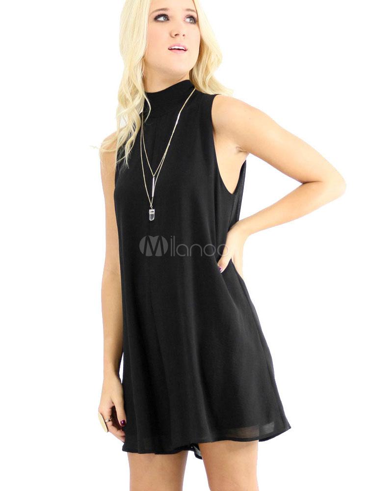 chic noir ruffles acrylique robe d 39 t. Black Bedroom Furniture Sets. Home Design Ideas