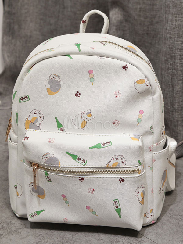 Natsume's Book of Friends Backpack White PU Anime Bag
