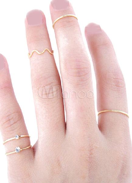 Gold Rings Vintage Metal Rings for Women