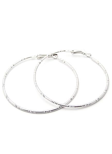 Silver Earrings Round Shape Alloy Earrings for Women thumbnail