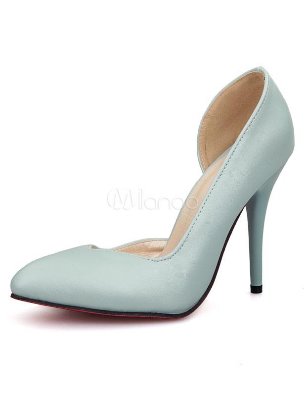 schwarze pumps spitz zehen pu heels f r frauen. Black Bedroom Furniture Sets. Home Design Ideas